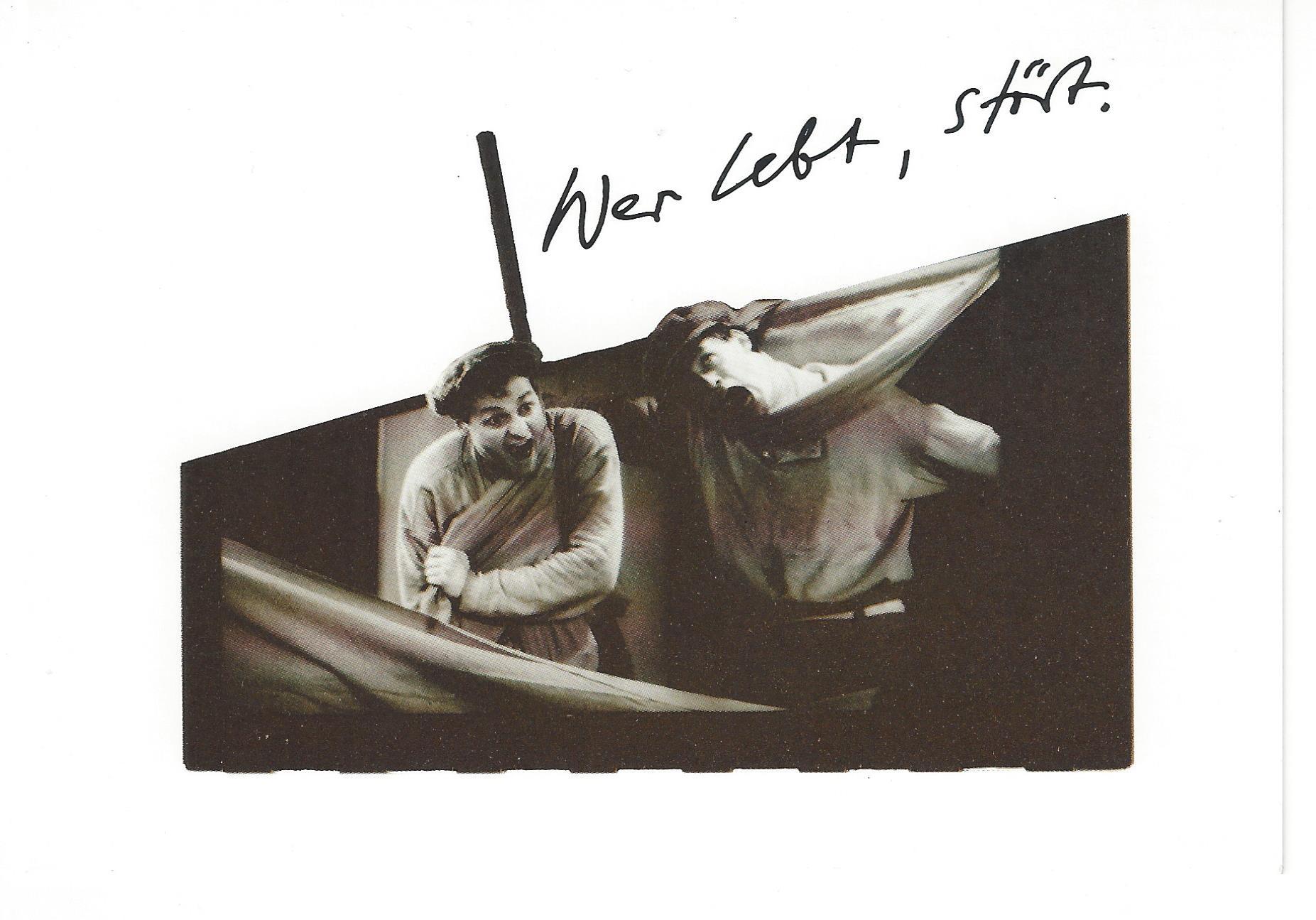 Flyer; Vorschaufoto mit Katja Kuhl, Solveig August und Karsten Knödler